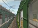 Электровоз ЧС4т-744 с пассажирским поездом из окна электропоезда ЭР9п-223 в Trainz Simulator 2010