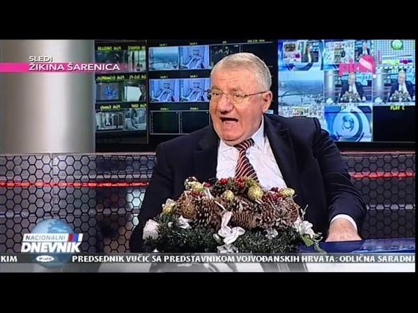 Vojislav Šešelj RTV Pink Nacionalni dnevnik 29 12 2018