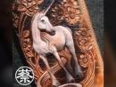 Силует лошади на кожаном изделии Вдохновение