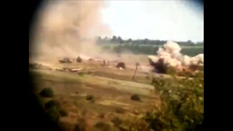 Июль 2014 граница с Россией. Обстрел николаевских десантников со стороны России. Артиллерия била 8 часов подряд