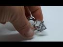 Кольцо с горным хрусталем в серебре