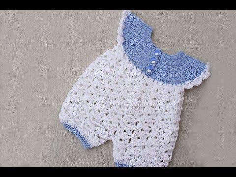 Pelele, enterizo, mameluco, ranitas o enterito de bebe a crochet muy fácil y rápido