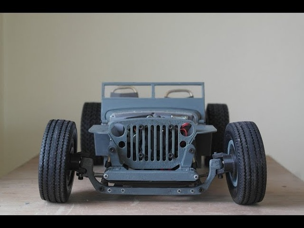 RC Jeep Willys Hot Rod 3D printed with manual two speed gearbox