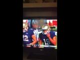 Watching the Notre Dame football game and I hear @BTS_twt song going to commercial.