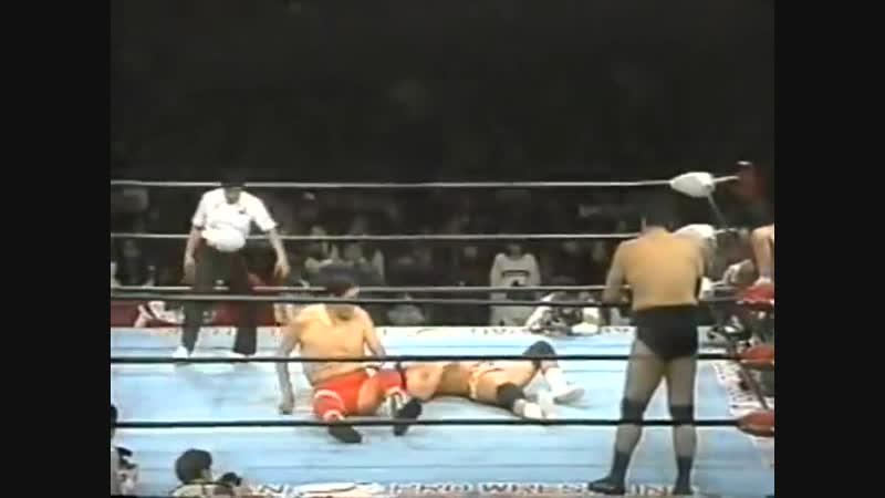 1995.01.19 - Giant Baba/Jumbo Tsuruta/Mitsuharu Misawa vs. Jun Akiyama/Takao Omori/Tamon Honda