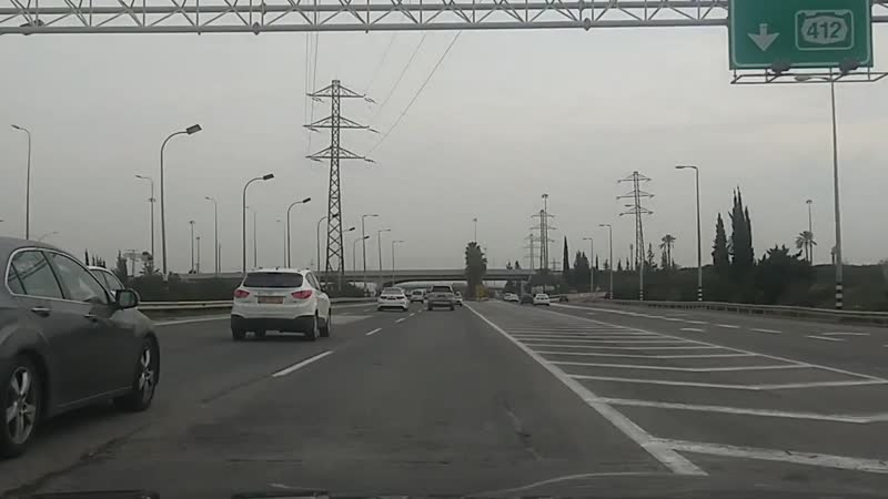 Дорога Явны - аэропорт Бен Гурион.