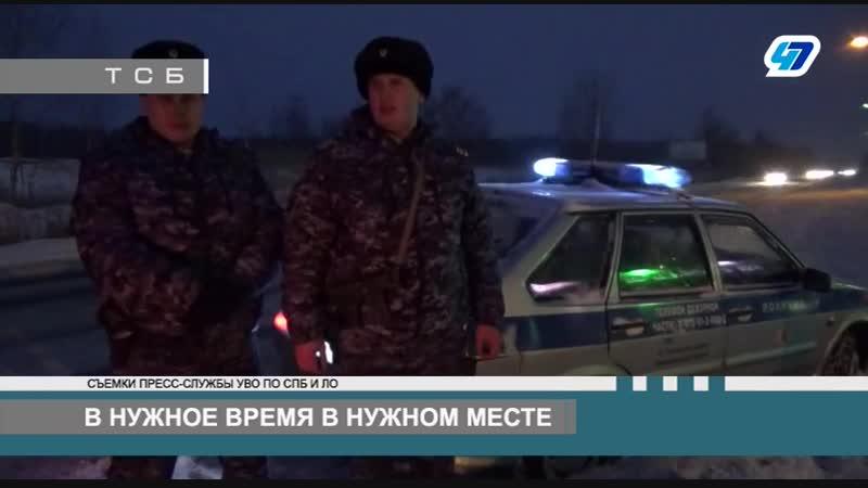 В Тосненском районе сотрудники вневедомственной охраны оказали пом