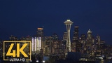 Space Needle and Seattle at Night in 4K Scenic Night View