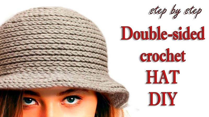 ШЛЯПА КРЮЧКОМ МК шаг за шагом DIY Crochet woman Soft Hat Step by Step