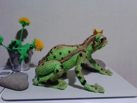 Царевна-лягушка, ч.1. Princess Frog, р.1. Amigurumi. Crochet. Амигуруми. Игрушки крючком.