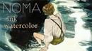 달빛에 앉아 sit in the moonlight ( ink ㅣ Watercolor ㅣ Gouache ㅣ 잉크, 과슈, 불투명, 수채화 )