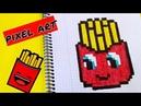 Draw Handmade Pixel Art Como dibujar Patatas fritas Kawaii