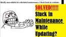 SOLVED! Wordpress Stuck in Maintenance Mode No .Maintenance File?