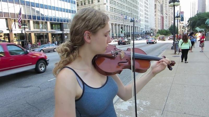 АМЕРИКА УЛИЧНЫЙ МУЗЫКАНТ ► Чикаго, Иллинойс США
