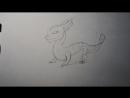 Как нарисовать дракона Свет из игры Легенды дракономании КАРАНДАШОМ