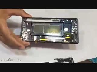 Замена дисплейного модуля на Samsung Note 8