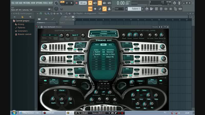 VST TOXIC РАБОТА С MIDI секцией Macro Controls ЧЕРЕЗ Envelope Controller