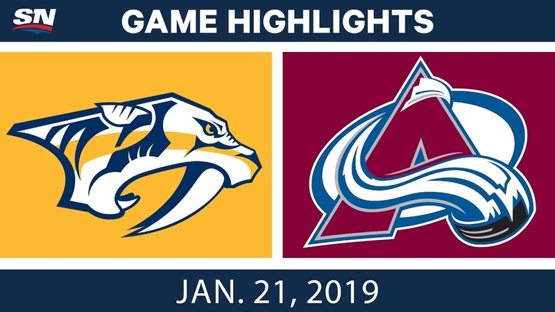 NHL Highlights Predators vs Avalanche Jan 21 2019
