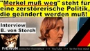 Merkel muß weg steht für zerstörerische Politik die weg muß Von Storch AfD Parteitag Augsburg
