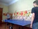 Играем в теннис,я и Андрей Субботин(игра 3)