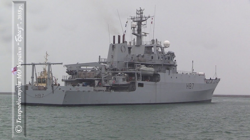 Британський військовий корабель HMS Echo пришвартувався біля причалу порту Одеси
