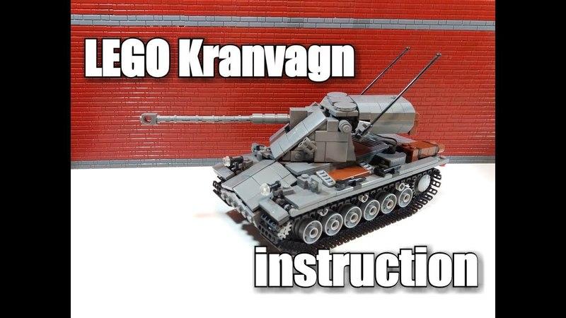 LEGO tank instruction : Sweden Kranvagn