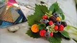 Букет из ягод. МАЛИНА, ЕЖЕВИКА, ЧЕРНИКА, МОРОШКА и др. ягоды из полимерной глины. МАСТЕР-КЛАСС