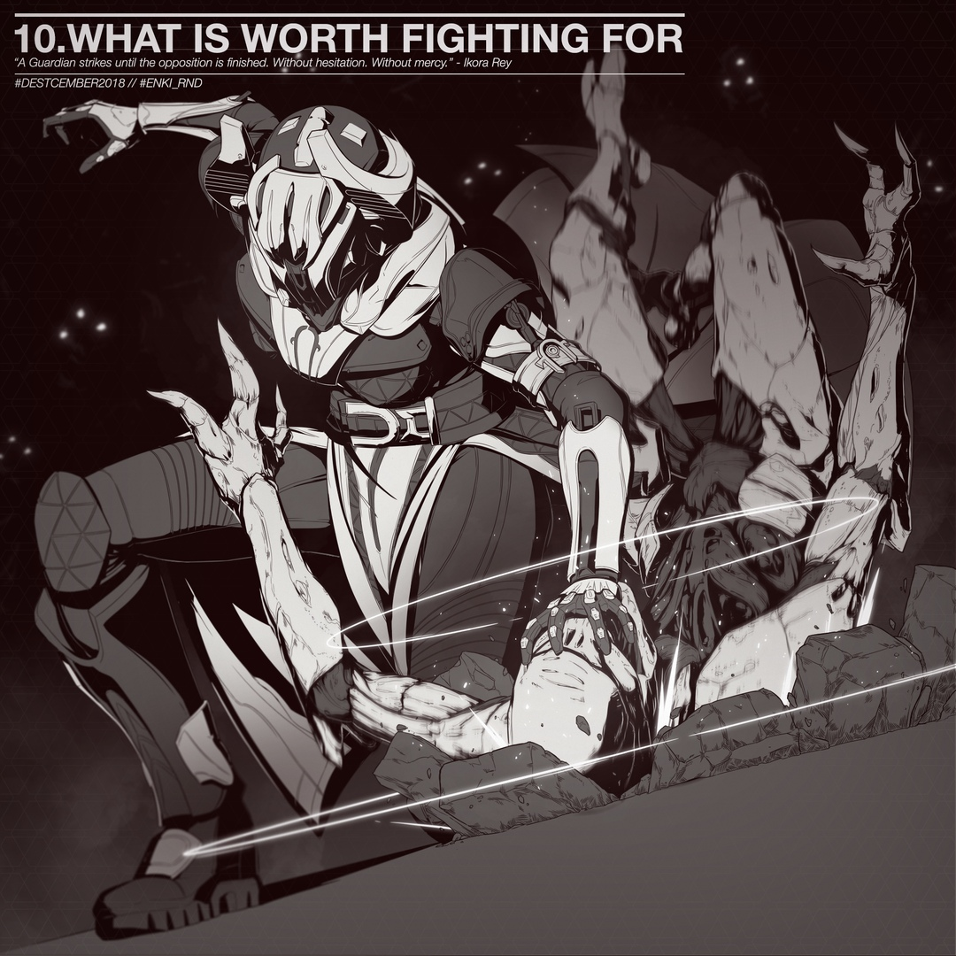 #Destcember2018 10. What is worth fighting for?