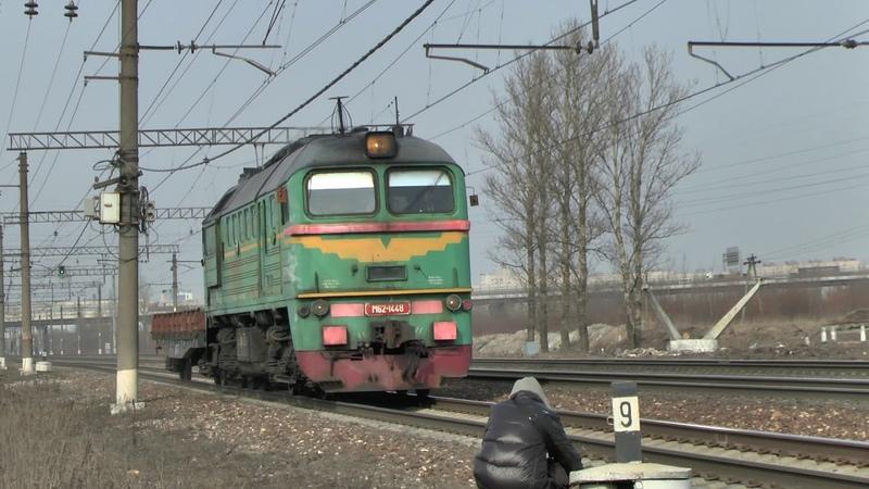 Тепловоз М62-1448 с вагоном