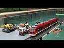 2018 Awesome Lego Train Set through the Garden, Pool and House