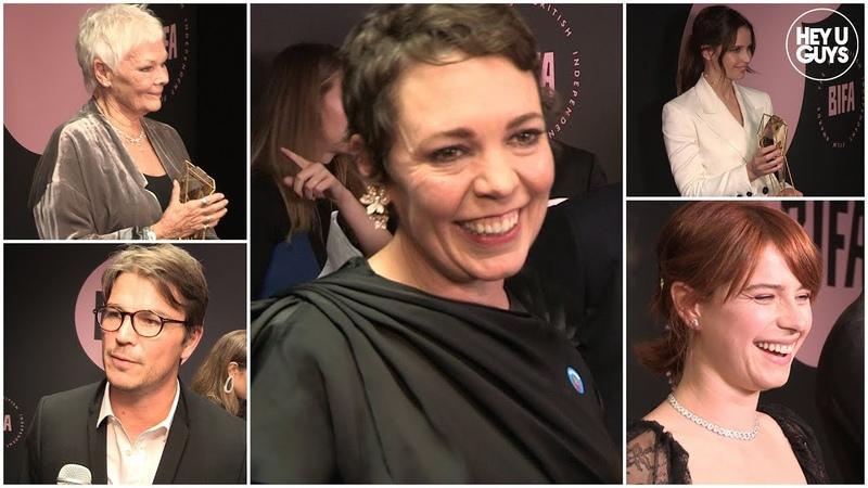 BIFAs 2018 Winners Room Interviews Olivia Colman Jessie Buckley Josh O'Connor
