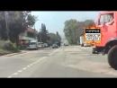 ДТП в Симферополе в микрорайоне Марьино  ВАЗ 2114 и Камаз