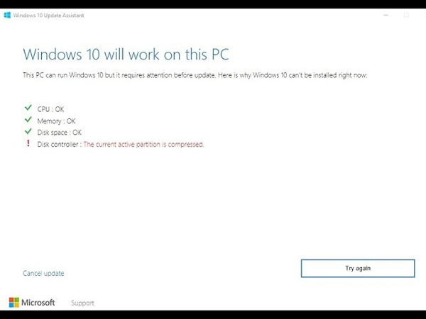 Disk controllerThe current active partition is compressed|2018|