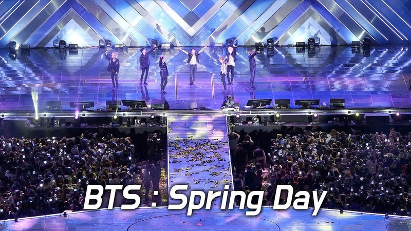 180622 BTS : 봄날 Spring Day : Stage Fullshot FANCAM : LOTTE FAMILY CONCERT 2018 : 방탄소년단 防弾少年団