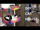 DIY wall mounted rainbow cat house