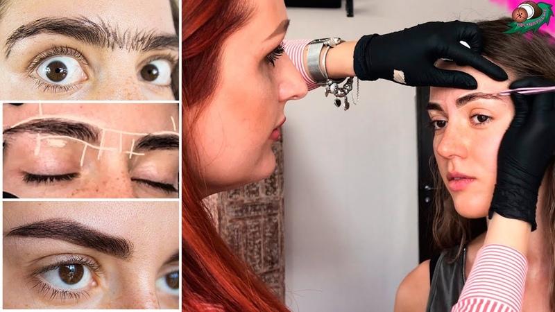 Коррекция бровей в домашних условиях 👁️ Как правильно выщипывать и красить брови 🌴 POLI NA PALME