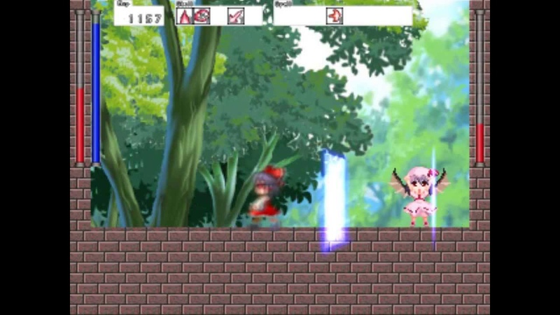 Touhou - Accident Outside Wall gameplay