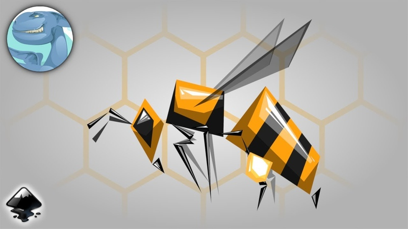 Simple bee. Speed vector art with Inkscape.