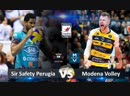Modena Volley vs Sir Safety Perugia. Highlights. Italian Volleyball Super League