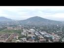 Полет над Пятигорском . Вид на гору Машук , место дуэли М.Ю. Лермонтова .