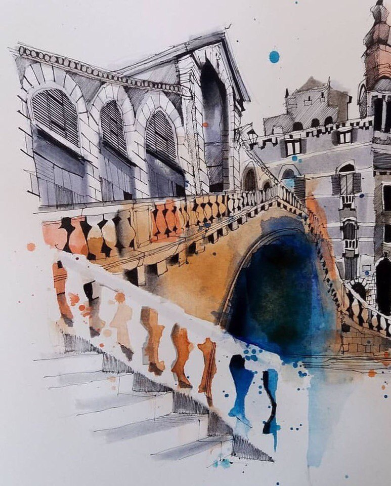 Watercolours by Ian Fennelly