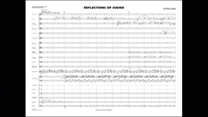 Reflections of Sound by Richard L. Saucedo/Perc. arr. Ray Ulibarri