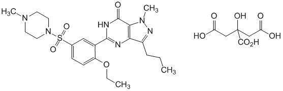 Химическая формула Силденафила