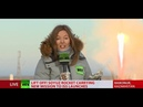 Lift off! Soyuz rocket blasts ISS crew into space