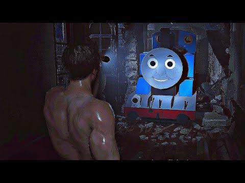 Resident Evil 2 - Mr X Thomas Train Gameplay Mod VS Handsome Leon