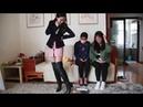 3 girls crush food