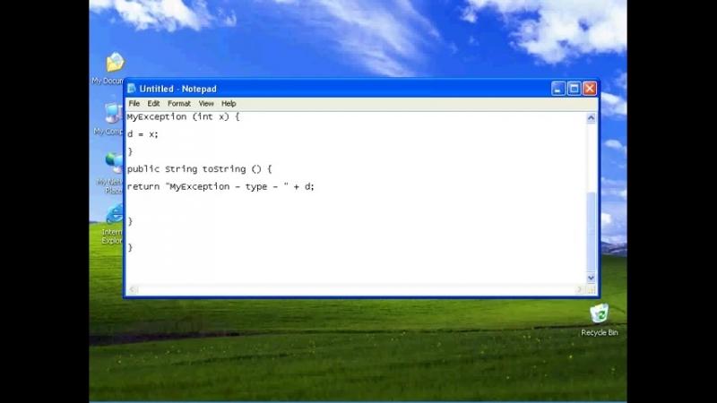 Обработка исключений в языке Java. Создание собственных подклассов исключений. Урок 79