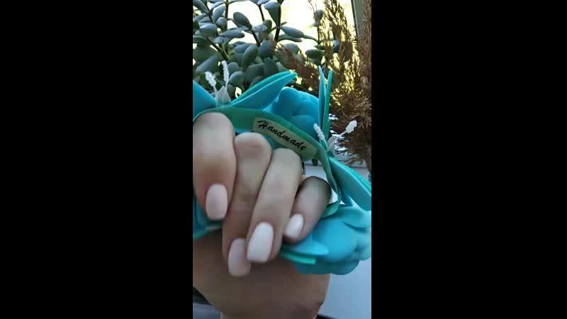 Обзор резиночки на гульку(голубые бабочки)