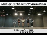 WAWA DANCE ACADEMY SPECIAL WONDER GIRLS BE MY BABY DANCE STEP MIRRORED MODE (COLOR VER.)