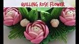Quilling Rose Flower Tutorial #17